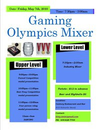 Olympic Gaming Mixer