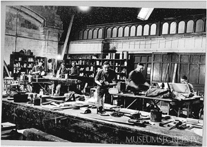 Archival photo of the Special Operation Executives Galleries inside the Natural History Museum