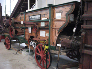 thresher in the museum